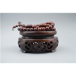 A Pterocarpus Santalinus 108 Beads Prayer's Necklace.