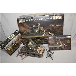 "First issue ""Forces of Valor"" 1:16th scale die cast U.S. M4A3 Sherman Tank from the D-Day Commemorat"