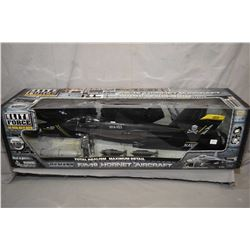 "Elite Force 1:18th scale die cast ""U.S. Navy F/A-18 Hornet Aircraft"" new in box, retailed for $300.0"