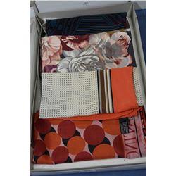 Four Valentino designer silk scarves