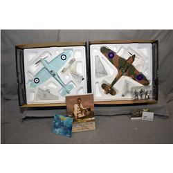 "Two Corgi The Aviation Archive limited edition 1:32 scale die cast planes including ""Hurricane MKI P"