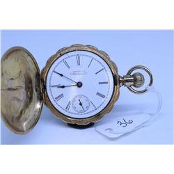"Waltham ""0"" size pocket watch, Seaside grade 11 jewel, serial #5468493, dates to 1892; nickel 3/4 sp"