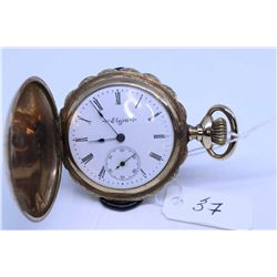 "Elgin size ""0"" pocket watch with 7 jewel movement, grade 269, serial # 9735815, dates to 1903, 3/4 n"