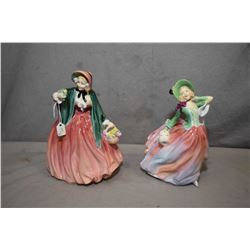 "Two Royal Doulton figurines including "" Autumn Breezes"" HN1911 and ""Lady Charmian"" HN1949"