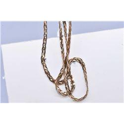 """Ladies 10kt tri-gold 16"""" neck chain"""