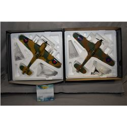 """Two Corgi The Aviation Archive limited edition 1:32 scale die cast planes including """"Hawker Hurrican"""