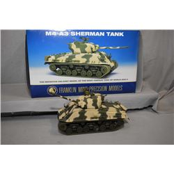 "Franklin Mint 1:24th scale die cast ""M4-A3 Sherman Tank"", new in box and retails $250.00"