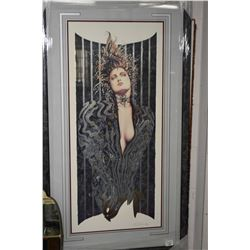 "Framed limited edition foiled lithograph print titled ""Night Stalker"" by artist Olivia De Berardinis"