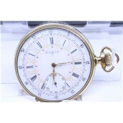"Elgin ""16"" size pocket watch, 15 jewel model 6, grade 312, serial #19699802, dates to 1917, 3/4 nick"