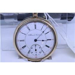 "Illinois size ""16"" pocket watch, 15 jewel, model 5, grade 183, serial #1693808, dates to 1903, 3/4 n"
