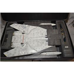 """JS International Ltd. 1:18th scale, die cast """"F-14A-VF 84 Jolly Rogers"""" Fighter jet, new in box with"""