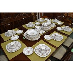 Large selection of Royal Albert Petit Point china dinnerware including thirteen dinner plates, eleve