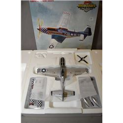 """GMP Military Collection 1:35th scale, limited edition die cast fighter plane """"P-51D Mustang- Big Bea"""