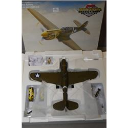 """GMP Military Collection 1:35th scale, die cast limited edition model """"343rd FG Aleutain Tiger P-40E"""""""