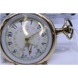 "Elgin size ""16"" pocket watch, 7 jewel, grade 290, model 6, serial #15400820, dates to 1911, nickel p"