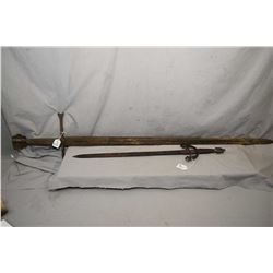 Two reproduction medieval swords
