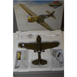 """GMP Military Collection 1:35th scale, die cast limited edition model """"343rd FG Aleutian Tiger P-40E"""""""