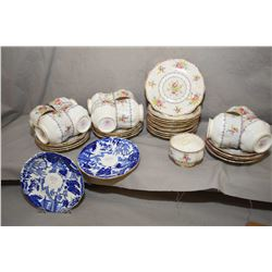 Selection of Royal Albert Petit point including 21 saucers and eleven cups and an open sugar plus tw