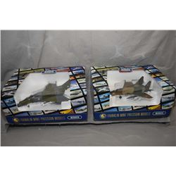 """Two Franklin Mint 1:48th scale die cast fighter jets including """"Mig 29"""" and a """"F4 Phantom"""" both new"""