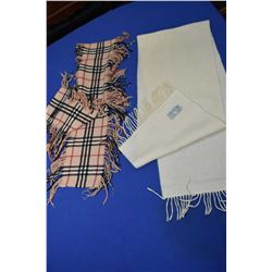 Two scarves including Burberry 100% Cashmere and a Aquascutum of London pure lambs wool scarf