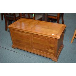 Modern oak blanket chest