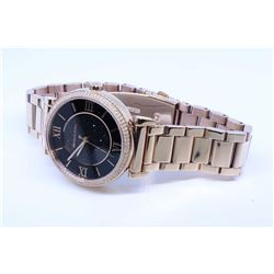 "Michael Kors ""Sofie"" rose gold quartz wrist watch in case, retails $335.00"