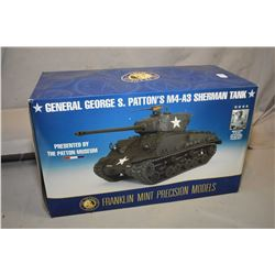 "Franklin Mint 1:24th scale die cast ""M4-A3 Sherman Tank-General Patton's edition"", new in box and re"