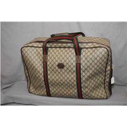 Vintage Gucci soft sided suitcase