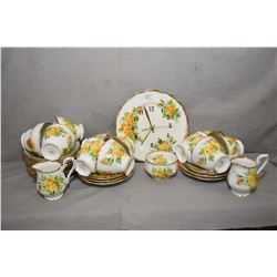 Selection of Royal Albert Tea Rose china including 20 saucers, 11 teacups, two creamers, 1 open suga