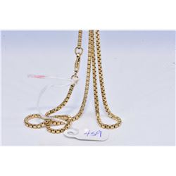 Ladies 10kt yellow gold 26  box chain
