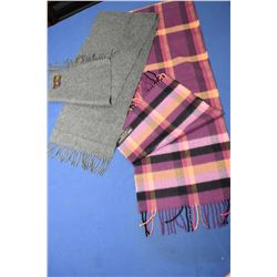 Two Cashmere scarves including a Scottish made and a German made