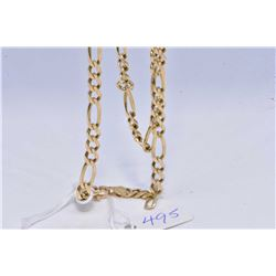 "10kt yellow gold Figaro 22"" neck chain"