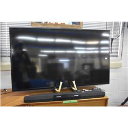 Samsung UN55ES6003FXZC flat screen television with remote plus Fluid sound bar and subwoofer