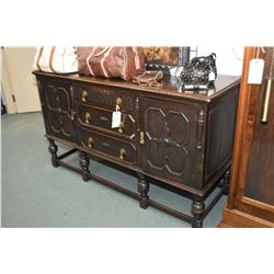 Tudor style antique oak sideboard