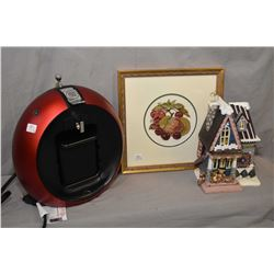 Dolce Gusto Nescafe coffee machine, a Kurt Andler light up Christmas house and a gilt framed petit p