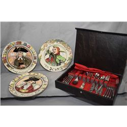 "Three Royal Doulton collector plates including ""The Jester"" D6277, ""The Mayor"" D6283 and ""The Parson"