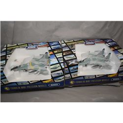 "Two Franklin Mint 1:48th scale, die cast ""Soviet Mig 29"" fighter jets, new in box with shippers, ret"