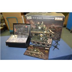 "Forces of Valor 1:16th scale, die cast ""U.S M4 A3 Sherman Tank"" new in box with shipper and retails"