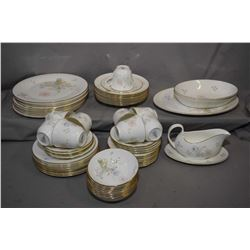 """Selection of Royal Doulton """"Flirtation"""" china dinner ware including setting for eight of dinner plat"""