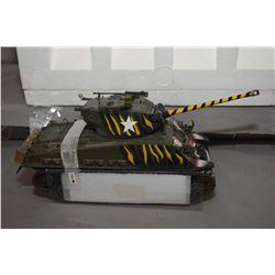 "Franklin Mint 1:24th scale, die cast tank ""M4-A3 Sherman Tank"" retails $250.00"