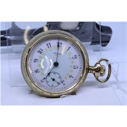 """Elgin """"18"""" size pocket watch, 15 jewel, grade 217, model 4, serial #10342799 dates this watch to 190"""