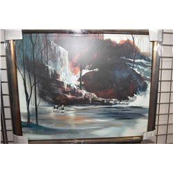 "Framed giclee on canvas print titled ""Waltz for Libby"" by artist Graham Flatt, publisher proof 1/1,"