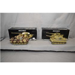 """Two Minichamps 1:35th scale die cast tanks including """"Tiger I"""" , new in box, retails $350.00 and a """""""
