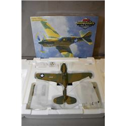 """GMP Military Collection 1:35th scale, limited edition die cast fighter plane """"Texas Longhorn P-40 E,"""