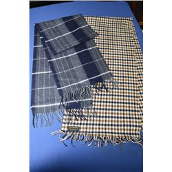 Two scarves including Highland Estate Tweeds 50% Cashmere and 50% Lambs wools and a British made 100