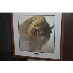 "Oak framed Robert Bateman print ""Chief"""