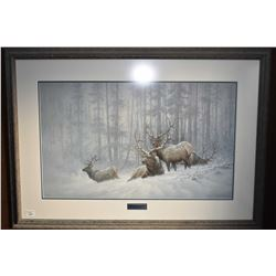 "Framed limited edition print ""Mountain Majesty"" pencil signed by artist Larry Fanning 198/950"
