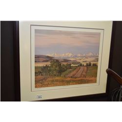 "Framed limited edition print ""New Horizons"" pencil signed by artist G.A Horvath 726/100"