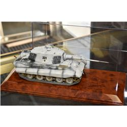 Minichamps die cast Tiger II tank with desk top display case