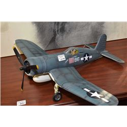 "Military Series Chance Vought F4U-1A Corsair ""Black Sheep Squadron"" airplane, no packaging"